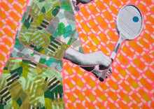 Carica l'immagine nel visualizzatore di Gallery, Original Old Fashioned Tennis Photo Altered By Hand - Naomi Vona Art