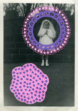 Load image into Gallery viewer, Pink Purple Art Collage On Vintage Baby Girl Photo - Naomi Vona Art