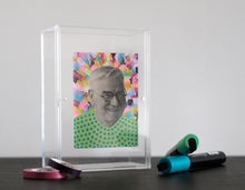 Load image into Gallery viewer, Colourful Happy Vintage Man Portrait Art Collage - Naomi Vona Art