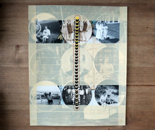 Load image into Gallery viewer, Black Yellow Art Collage On Vintage Photo - Naomi Vona Art
