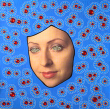Load image into Gallery viewer, Electric Blue And Red LP Cover Artwork Collage - Naomi Vona Art