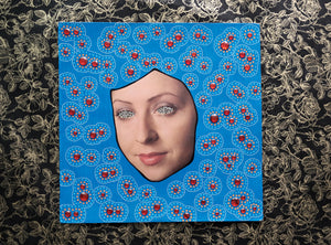 Electric Blue And Red LP Cover Artwork Collage - Naomi Vona Art