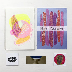 Abstract Collages - Live Online Art Class With Naomi Vona - Naomi Vona Art