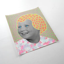 Load image into Gallery viewer, Smiling Vintage Girl Manipulated With Pens And Washi Tape - Naomi Vona Art