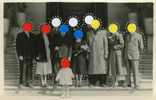 Load image into Gallery viewer, Dotted Art Collage Composition On Vintage Group Shot - Naomi Vona Art