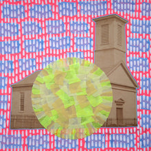 Load image into Gallery viewer, Vintage House Photo Collage Altered With Neon Colours - Naomi Vona Art