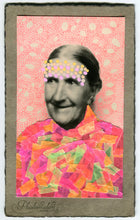 Load image into Gallery viewer, Neon Cotton Candy Art Collage On Vintage Woman Portrait - Naomi Vona Art