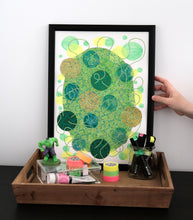 Load image into Gallery viewer, Neon Green And Yellow Abstract Organic Composition - Naomi Vona Art