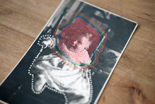 Load image into Gallery viewer, Dotty Art Collage On Vintage Baby Portrait - Naomi Vona Art