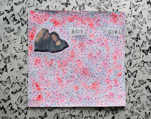 Romantic Style Art Collage On Vintage LP Cover - Naomi Vona Art