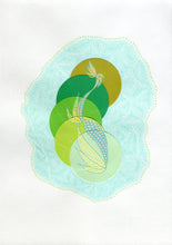 Carica l'immagine nel visualizzatore di Gallery, Mint Green Abstract Art Collage Composition - Naomi Vona Art