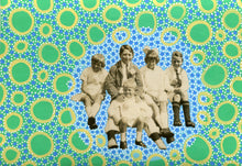 Load image into Gallery viewer, Vintage Group Of Smiling Kids Portrait Altered By Hand - Naomi Vona Art