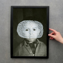 Load image into Gallery viewer, Altered Creepy Vintage Boy Photography - Naomi Vona Art