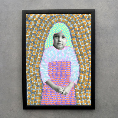 Vintage Little Girl Prints Altered By Hand - Naomi Vona Art