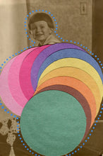 Load image into Gallery viewer, Rainbow Art Collage On Vintage Baby Portrait Photo - Naomi Vona Art