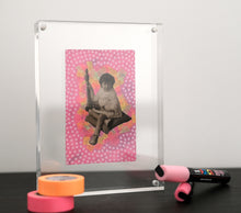 Load image into Gallery viewer, Neon Pink Vintage Baby Girl Art Collage - Naomi Vona Art