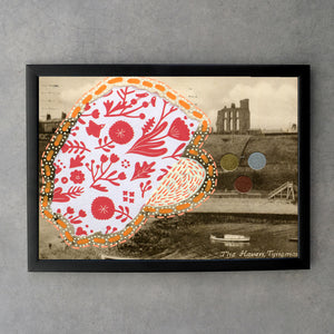 Manipulated Postcard Collage Fine Art Print - Naomi Vona Art