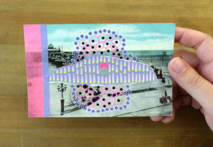Vintage Postcard Of Blackpool Victoria Pier Altered By Hand - Naomi Vona Art