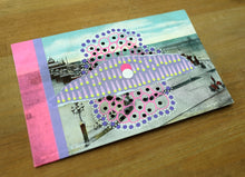 Load image into Gallery viewer, Vintage Postcard Of Blackpool Victoria Pier Altered By Hand - Naomi Vona Art