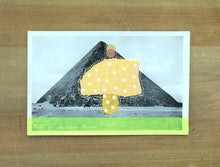 Load image into Gallery viewer, The Pyramid Of Cheops Vintage Postcard Art Collage - Naomi Vona Art