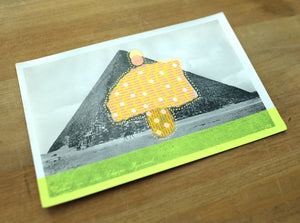 The Pyramid Of Cheops Vintage Postcard Art Collage - Naomi Vona Art