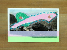 Load image into Gallery viewer, Abstract Art Collage On Vintage Landscape Postcard - Naomi Vona Art