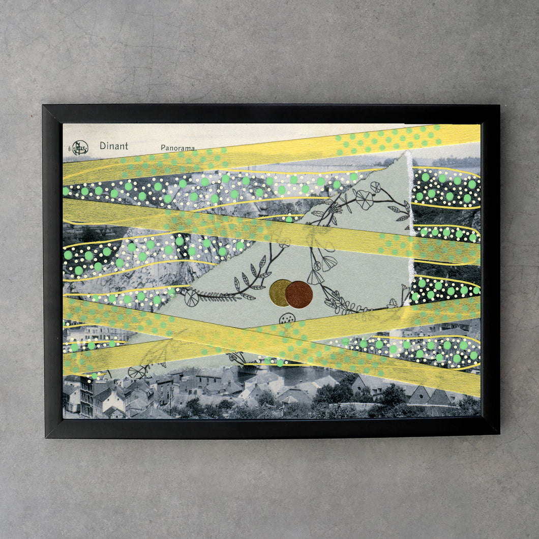 Pastel Yellow And Green Fine Art Print Collage - Naomi Vona Art