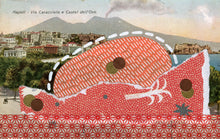 Load image into Gallery viewer, Vintage Illustration Postcard Of Naples City Altered By Hand - Naomi Vona Art