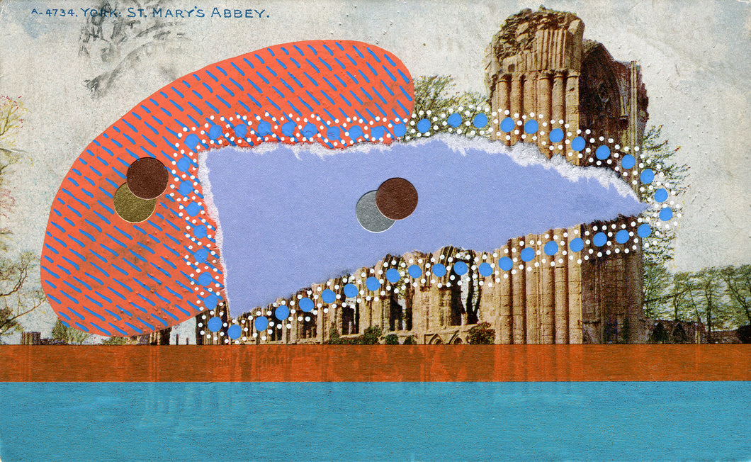 St. Mary' Abbey Vintage Illustration Abstract Art Collage - Naomi Vona Art