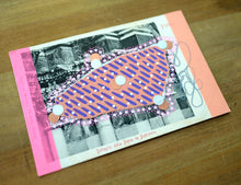 Load image into Gallery viewer, Pink Purple Collage On Vintage Pistoia Postcard - Naomi Vona Art