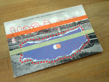 Load image into Gallery viewer, Red Purple Collage On Vintage Littlehampton Postcard - Naomi Vona Art