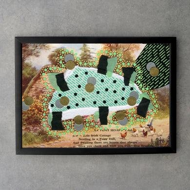 Black And Mint Green Custom Fine Art Print Collage - Naomi Vona Art