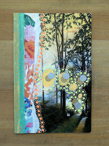 Floral Pastel Art Collage On Vintage Natural Landscape Postcard Illustration - Naomi Vona Art