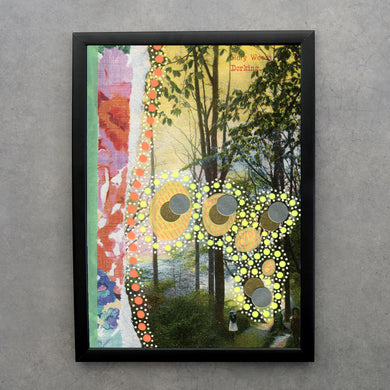 Pastel Floral Abstract Collage Fine Art Print - Naomi Vona Art