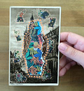 Vintage Cologne Postcard Art Collage In Gothic Style - Naomi Vona Art