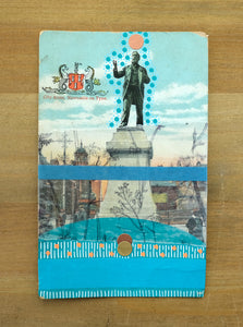 Vintage Newcastle On Tyne Monument Postcard Art Collage - Naomi Vona Art