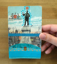 Load image into Gallery viewer, Vintage Newcastle On Tyne Monument Postcard Art Collage - Naomi Vona Art
