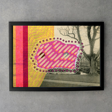 Red Yellow Mixed Media Fine Art Print - Naomi Vona Art