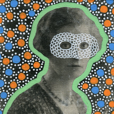 Masked Vintage Woman Portrait Altered By Hand - Naomi Vona Art