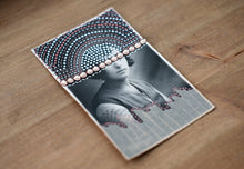 Load image into Gallery viewer, Brown, Beige And White Collage On Vintage Woman Studio Photography - Naomi Vona Art