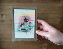 Load image into Gallery viewer, Vintage Baby Portrait Altered By Hand - Naomi Vona Art