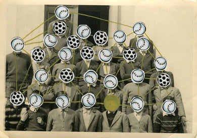 Dada Conceptual Art Collage On Retro Group Photography - Naomi Vona Art