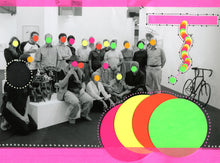 Load image into Gallery viewer, Contemporary Neon Art Collage On Vintage Group Shot - Naomi Vona Art