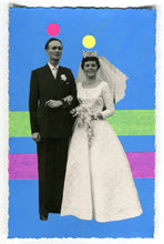 Load image into Gallery viewer, Vintage Wedding Couple Art Collage - Naomi Vona Art