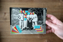 Load image into Gallery viewer, Altered Vintage Group Shot Art Collage - Naomi Vona Art