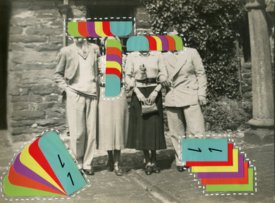 Altered Vintage Group Shot Art Collage - Naomi Vona Art