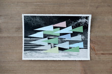Load image into Gallery viewer, Abstract Paper Collage Composition On Vintage Photo - Naomi Vona Art