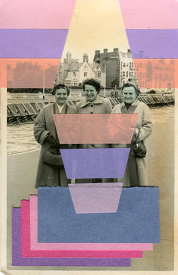 Altered Vintage Photo Of Smiling Women - Naomi Vona Art