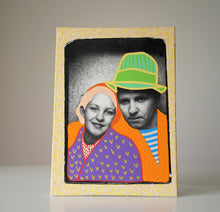Load image into Gallery viewer, Vintage Couple Painting - Naomi Vona Art