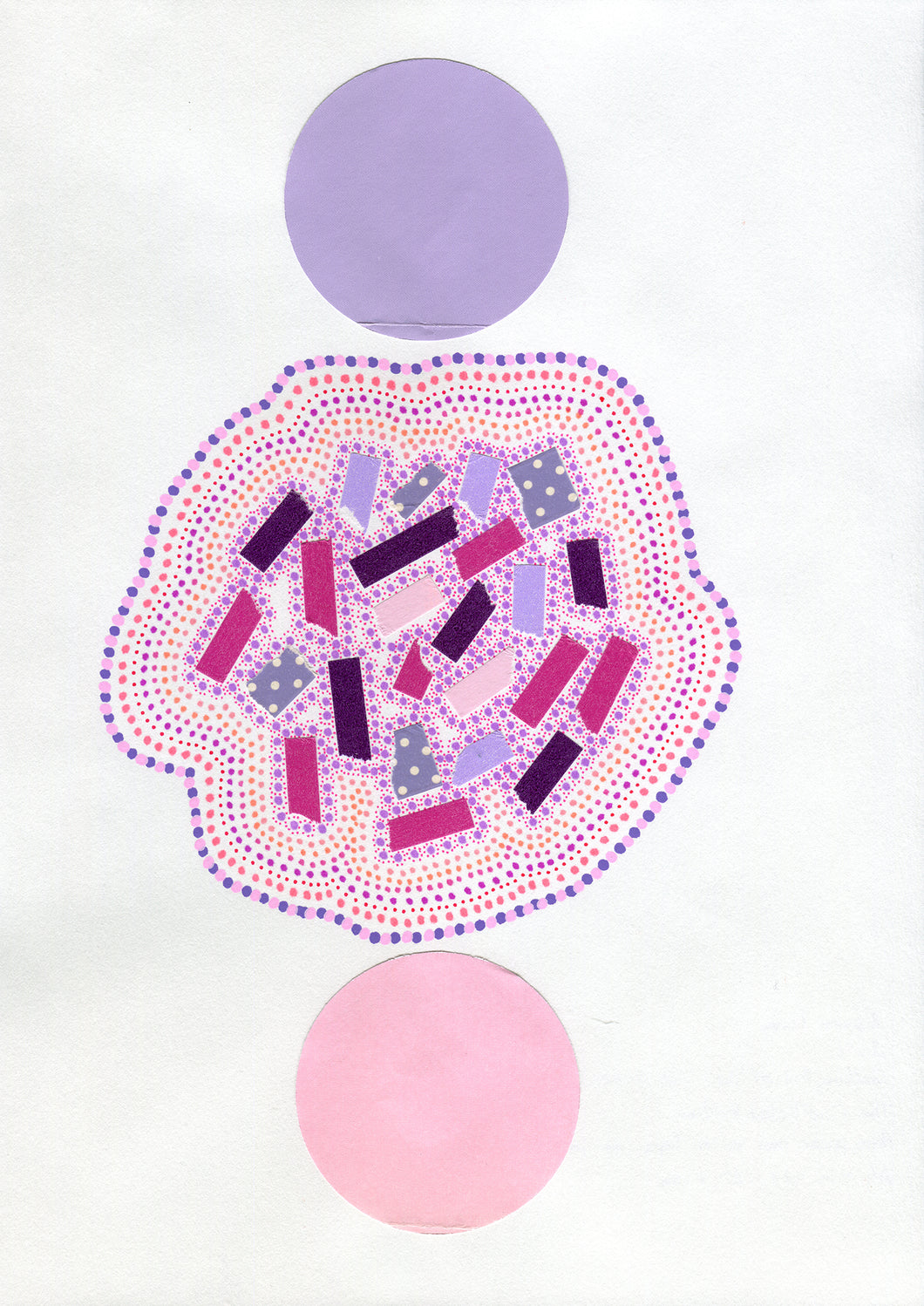 Lilac And Pink Abstract Art Composition - Naomi Vona Art